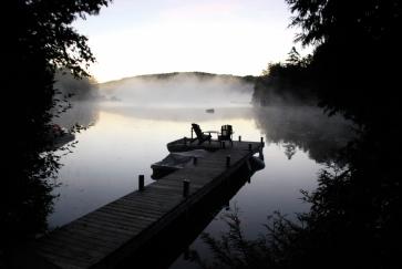 Vue sur le lac Beaulac, dans La Lanaudière.