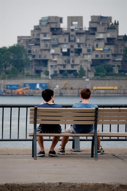 Sur le Vieux-Port de Montréal, Saint-Laurent et rive sud.