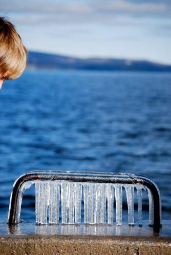 H. au bord du lac Memphremagog.