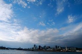 Ciel d'hiver sur le Saint-Laurent.