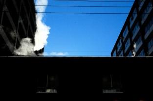 Les immeubles qui fument, rue de Gaspé.