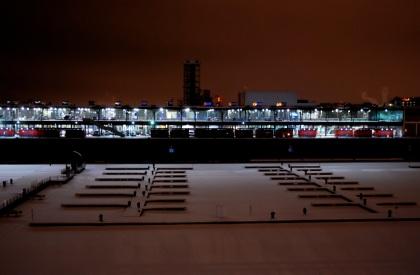 Le Vieux-Port sous la neige.