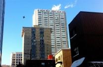Immeubles dans le centre-ville.