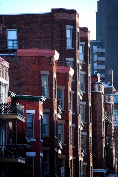 Façades, encore, de beaux immeubles du côté de l'avenue du Parc.