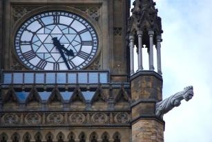 La tour du parlement canadien à Ottawa.