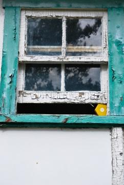vieille fenêtre bloquée